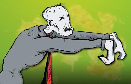 Job Zombies cartoon