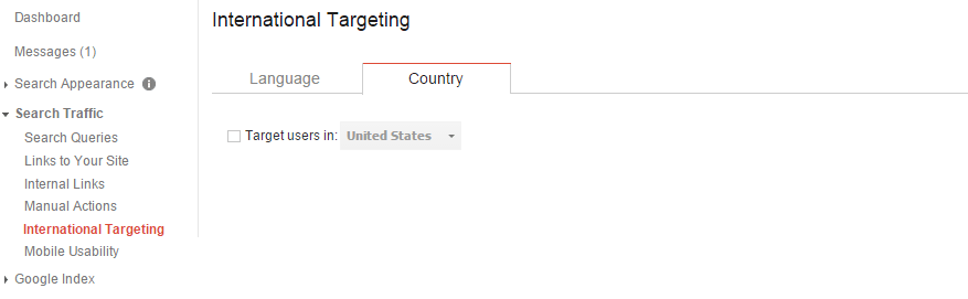 Google WMT Country Targeting